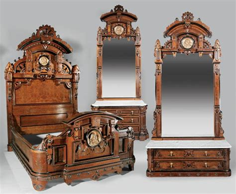 renaissance bedroom furniture furniture suite bedroom victorian renaissance revival walnut ebonized bed 2