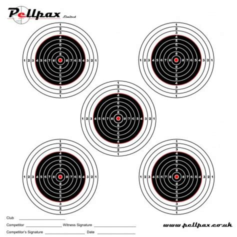 printable shooting targets uk match targets 14x14 cm shooting targets pellpax