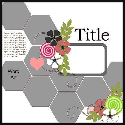 Credit Card Template For Cricut by Cricut Inspired Scrapbook Layouts New Quot Hexagon Quot Scrapbook