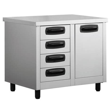 Buy Kitchen Drawers by Inomak Stainless Steel 4 Drawer Unit With Storage Bin