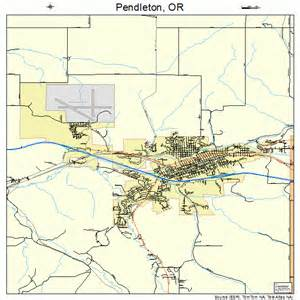 pendleton oregon map pendleton oregon map 4157150