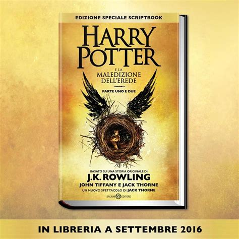 harry potter e la harry potter e la maledizione dell erede in italia a settembre