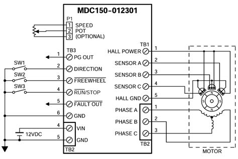 brushless dc motor controller circuit diagram