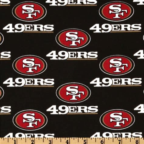 49ers Home Decor by Nfl Cotton Broadcloth San Francisco 49ers Black Red