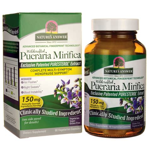 pueraria mirifica evanesce es my experience nature s answer wildcrafted pueraria mirifica 60 veg caps