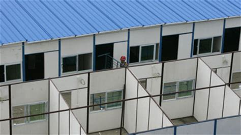 Temporary Housing by Temporary Housing Built For Quake Victims China Org Cn