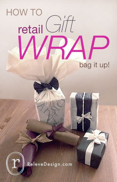 how to wrap presents how to retail gift wrap relev 233 design