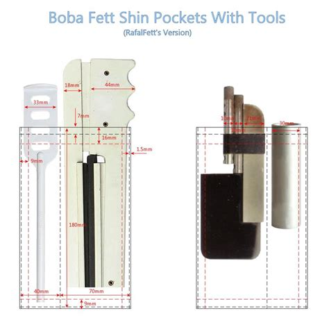 Boba Fett Jetpack Template by Boba Fett Shin Tools Pocket Positioning Template Boba