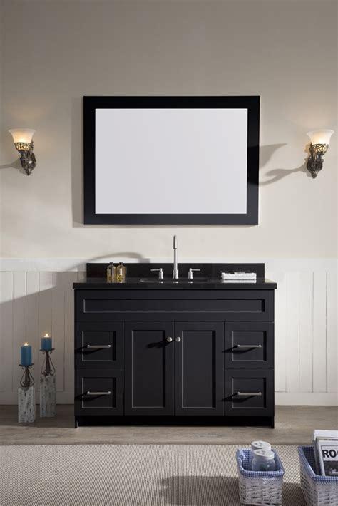 ariel hamlet 49quot single sink vanity set with absolute