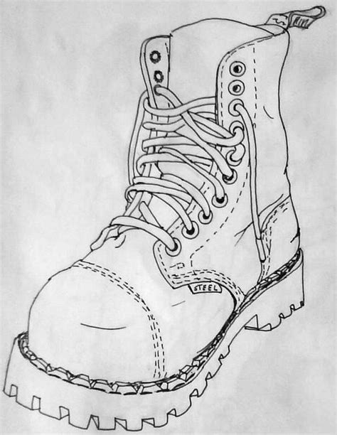 how to draw a military boat leather boot or combat boot drawing shemyazza 169 2018