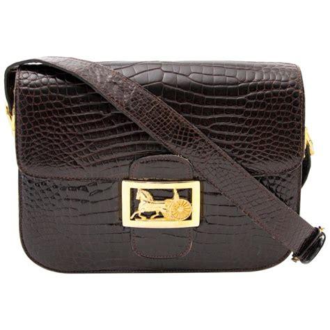 Croco Bag by Vintage Croco Carriage Box Bag At 1stdibs