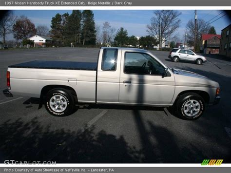 gray nissan truck 1997 nissan hardbody truck xe extended cab in beige