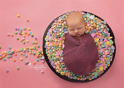 newborn valentines day newborn photography newborn hearts