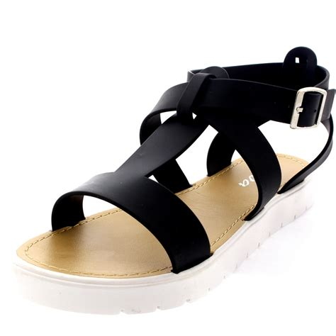 jelly sandals womens womens shoes t cleated sole open toe white flatform