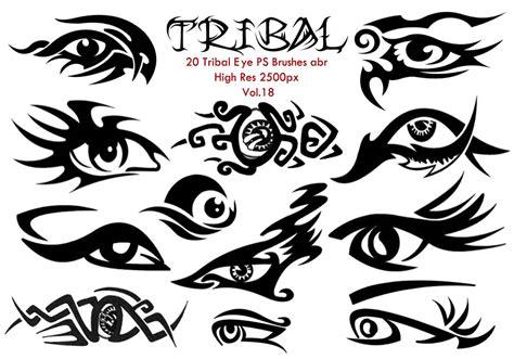 20 tribal eye ps brushes vol 18 free photoshop brushes