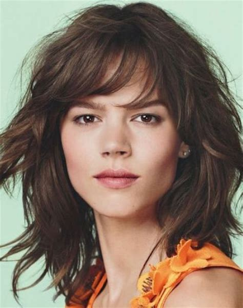 wigs medium length feathered hairstyles 2015 vibrant feathered shag look curly shag haircuts for short