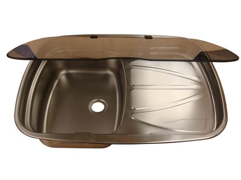caravan kitchen sinks spinflo argent stainless steel kitchen sink with glass lid