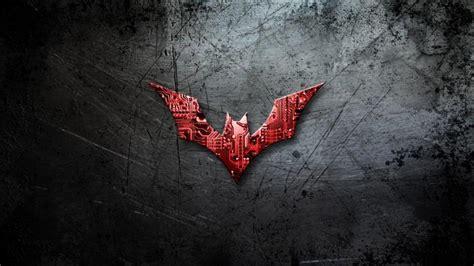grunge metalik arka plan uezerinde batman logosu hd duvar