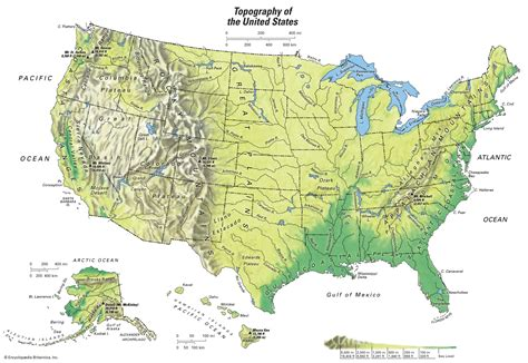 topographical map of united states topographical map students britannica