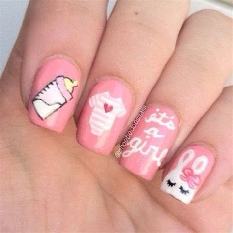 Baby Shower Nails by 17 Best Ideas About Baby Shower Nails On Baby