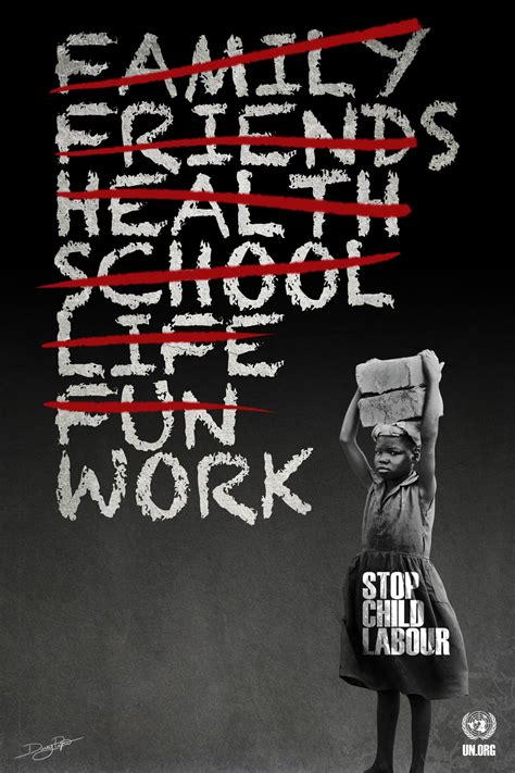 Handmade Poster On Child Labour - school project s6 stop child labor dany pepin