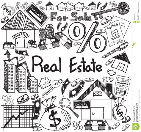 sign in to doodle real estate business industry and investment handwriting