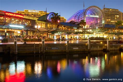 restaurants open in darling harbour on christmas eve waterfront promenade at harbour after sunset image landscape photography