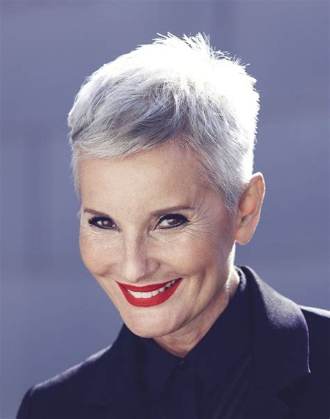 extremely short hair cuts for women with gray hair over 50 years old a short grey hairstyle from the heritage blend collection