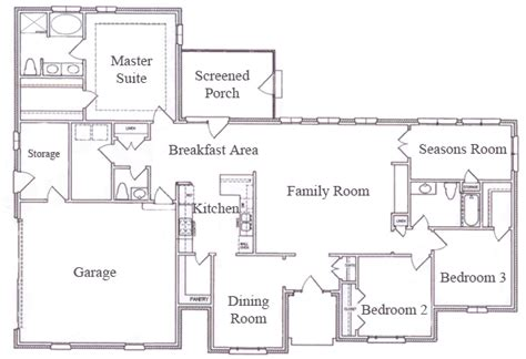 floor plan for ranch style home single story ranch style house plans smalltowndjs