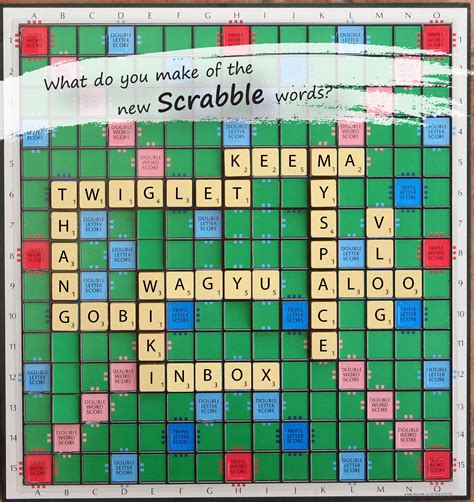 picture of a scrabble board scrabble new words added to scrabble bath