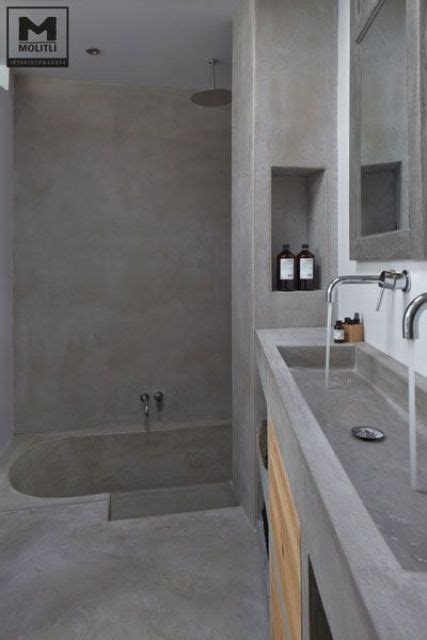 poured concrete bathtub 32 trendy and chic industrial bathroom vanity ideas digsdigs