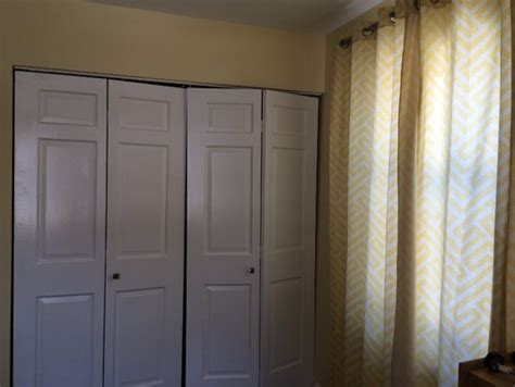 Replacing Closet Doors Replace Closet Bifold Doors With Curtains