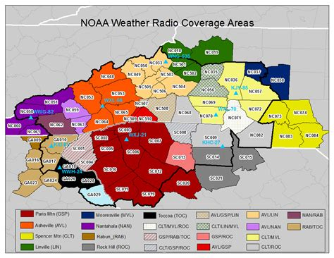 map carolina area codes noaa weather radio page