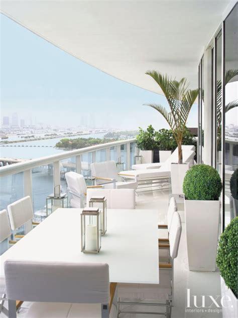 curved white modern balcony modern balcony miami condo
