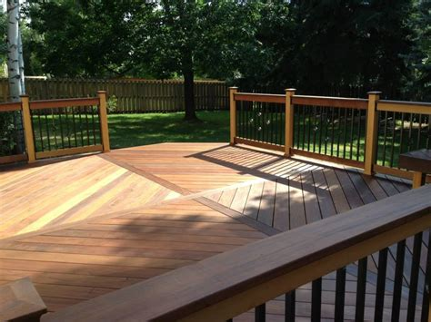 wood pattern deck st louis mo deck design and building details by