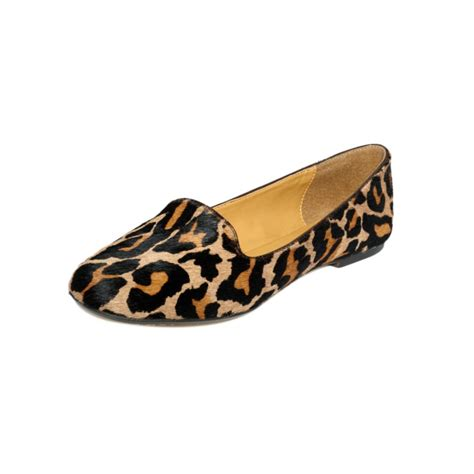 cheetah loafers nine west panto flats lyst