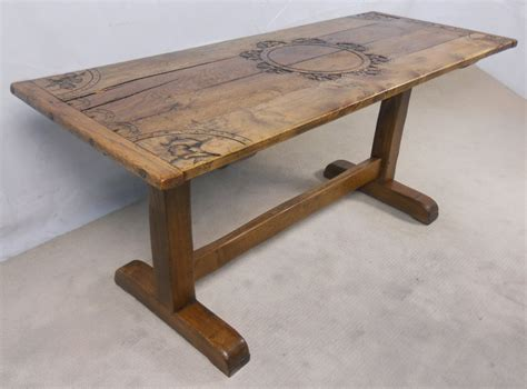 Rustic Light Oak Refectory Dining Table Sold