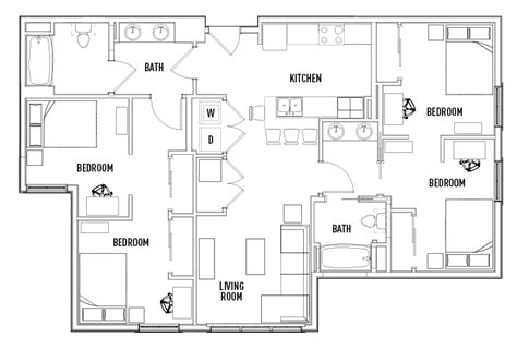 shared bathroom floor plans 2 bed 2 bath shared the suites at third student
