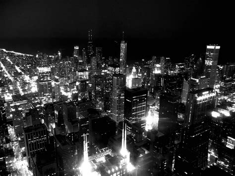 cityscape wallpaper in black and white by lutece chicago skyline backgrounds wallpaper cave