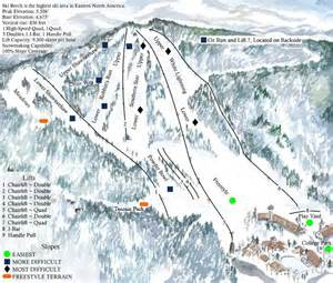 carolina skiing map beech mountain ski resort skimap org