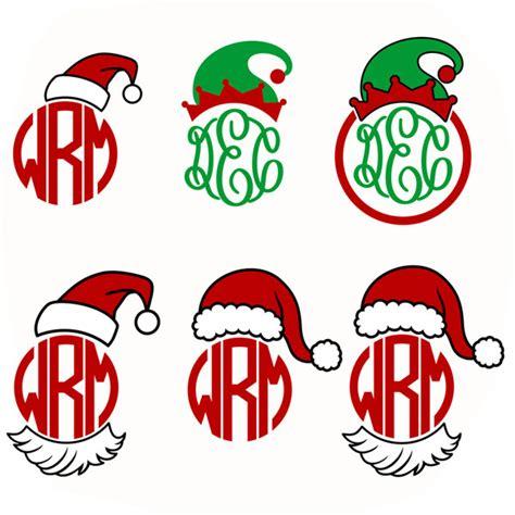 santa and elf hat svg cuttable designs