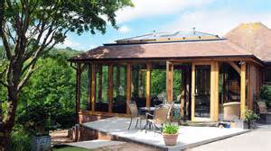 All Glass Sunroom Oak Framed Orangery Extension Somerset David Salisbury