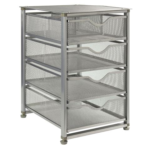 Mesh Drawers by Silver Mesh Four Drawer Chest