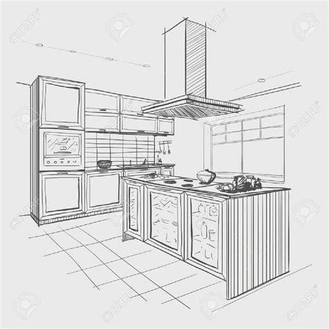 croquis de cocinas planos de cocinas decoracion imagenes bosquejo interior la
