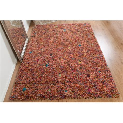 Real Rug Stone Garden Multicoloured Wool Rectangular Real Rugs