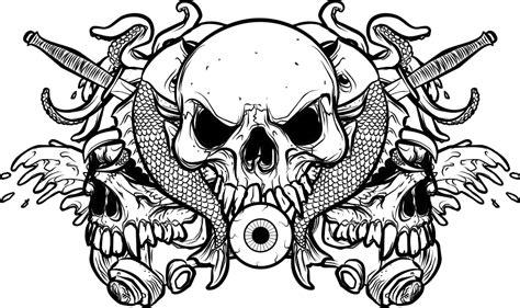 doodle tengkorak handdrawn random vector pack 2 by ragingcephalopod on