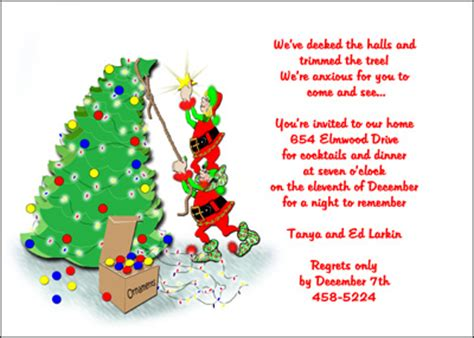 christmas invite ryhmes family invitation wording cimvitation