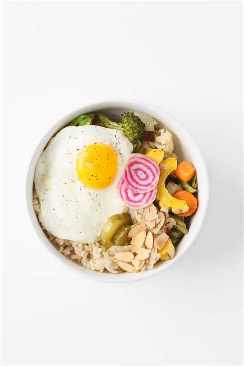 To Market Bowl Snacks by Market Bowl With Fried Egg And Almond Tamari Sauce Clean