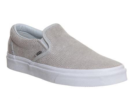 light gray slip on vans vans slip on shoes glacier grey snake unisex sports