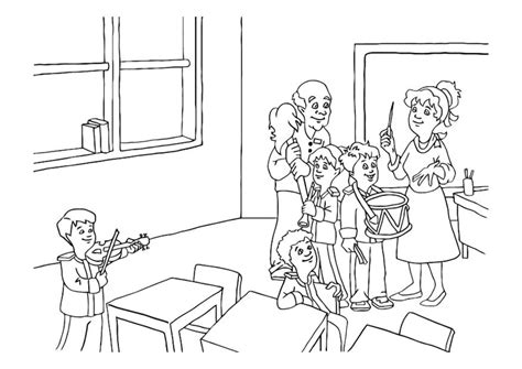 coloring pages for music class coloring page music class img 16616